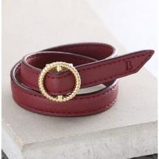 Maro Leather Bracelet - Wine