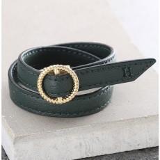 Maro Leather Bracelet - Forest